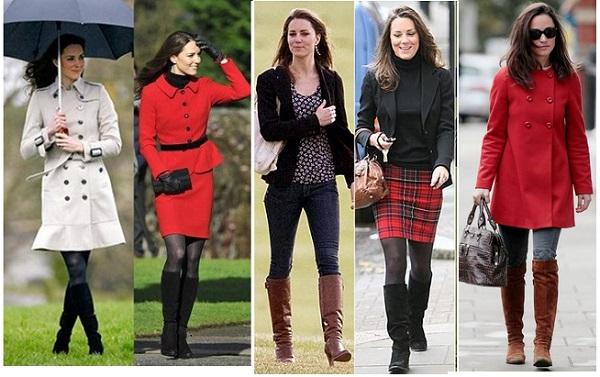 キャサリン妃に学ぶロングブーツの履きこなし画像